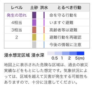 災害のレベル表